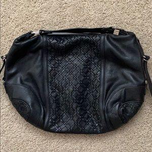 Elliott Lucca black leather hobo bag